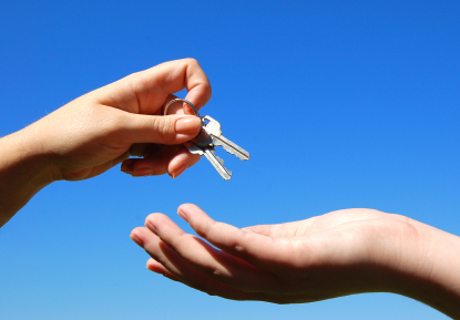 keys to new rental home